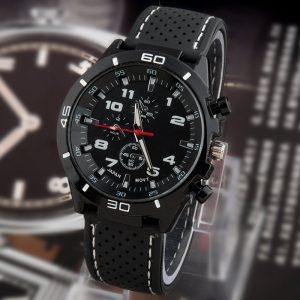 Мъжки спортно-елегантен часовник Код: 116 - Модел 2 - Черен