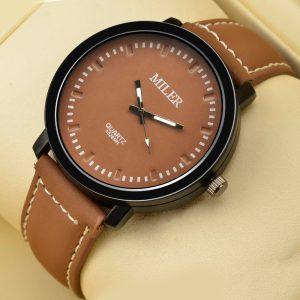 Мъжки часовник с велурена каишка