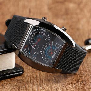 Мъжки електронен часовник тип километраж