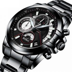 Висок клас мъжки часовник от стомана с хронограф