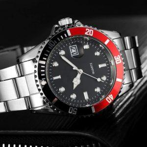 Мъжки часовник с въртящ се хронограф и дата