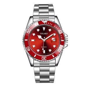 Мъжки часовник с червен циферблат и дата