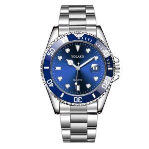 Мъжки часовник със син циферблат и дата